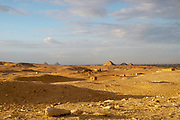 Vista looking northward from the stepped Pyramid of Djoser, Saqqara, Al Badrashin, Giza Governate, Egypt.