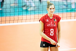 Kaja Grobelna of Belgium during volleyball match between National teams of Slovenia and Belgium in 4th Qualification Round of 2019 CEV Volleyball Women's European Championship, on August 25, 2018 in Sports hall Tabor, Maribor, Slovenia. Photo by Urban Urbanc / Sportida