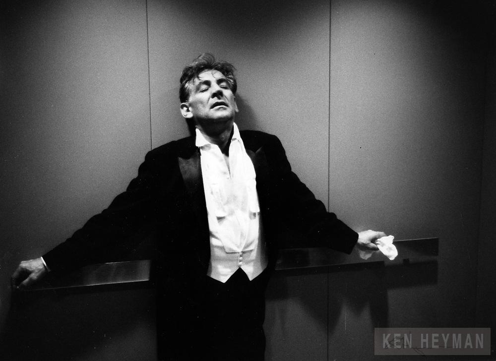 Leonard Bernstein after a concert.