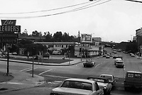 1971 Looking west on Franklin Ave. from Cahuenga Blvd