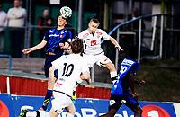 Fotball<br /> Tippeligaen<br /> Nadderud 30.03.14<br /> Stabæk - Sogndal<br /> Daniel Granli i  duell med Taijo Teniste<br /> Foto: Eirik Førde