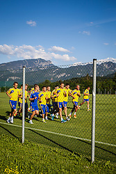 25.05.2012, Sportplatz, Walchsee, AUT, UEFA EURO 2012, Trainingscamp, Ukraine, Training, im Bild Training der ukrainischen Nationalmannschaft unter Ausschluss der Oeffentlichkeit // Training of the Ukrainian national team to the exclusion of the public during the first Trainingssession of Ukraine National Footballteam for preparation UEFA EURO 2012 at the Stadium, Walchsee, Austria on 2012/05/25. EXPA Pictures © 2012, PhotoCredit: EXPA/ Juergen Feichter
