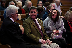 © Licensed to London News Pictures. 28/11/2016. London, UK. UKIP MEP MIKE HOOKEM and his head of press ANNABELLE FULLER attend the announcement of the new leader of the UK Independence Party (UKIP), at the Emmanuel Centre in Westminster London.. Photo credit: Ben Cawthra/LNP