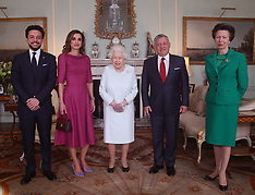 Queen Elizabeth with Crown Prince Hussein, Queen Rania and King Abdullah II of Jordan - 28 Feb 2019