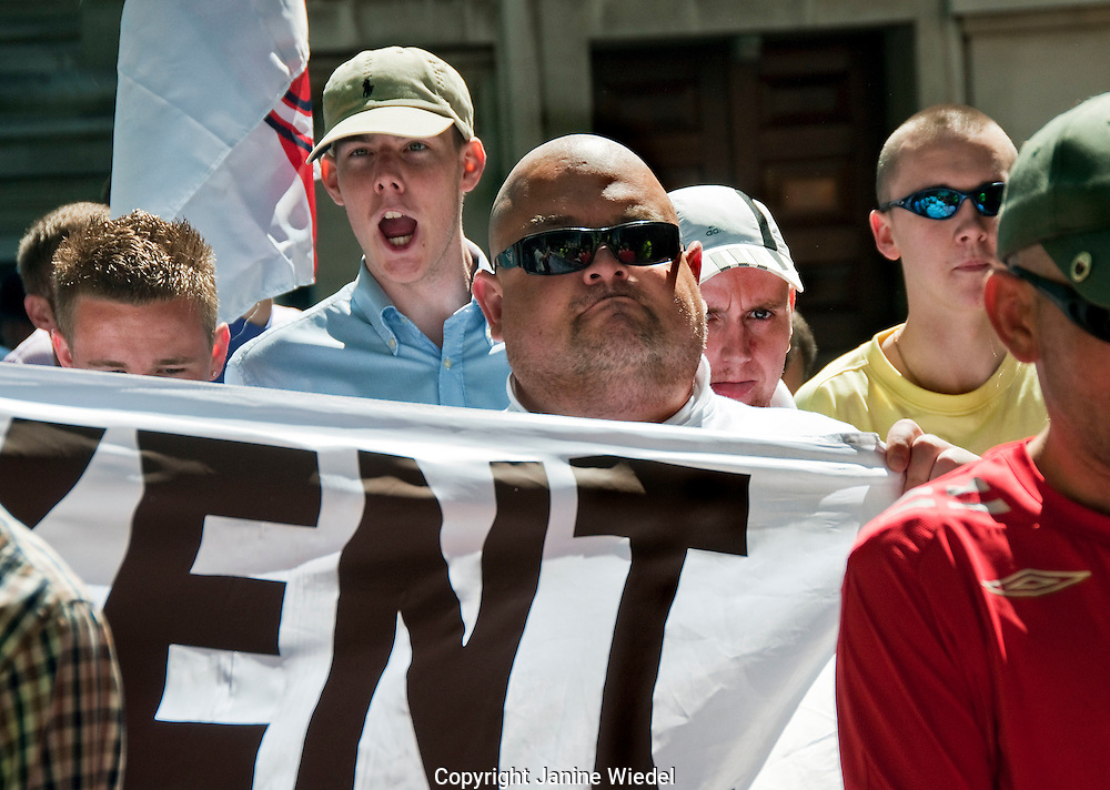 England Defence League (EDL) march through London on 22 May 2010