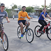 Fourth Avenue riders during the fall 2014 edition of Cyclovia Tucson. Bike-tography by Martha Retallick.
