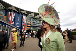 Ines Hernandez arriving during day one of Royal Ascot at Ascot Racecourse.