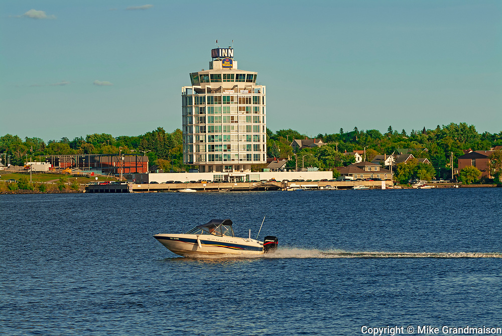 Boats and Inn on Lake of the Woods<br />Kenora<br />Ontario<br />Canada