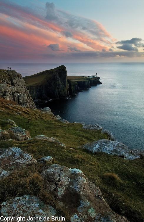 Sunset at Neist Point on the Isle of Skye, Scotland