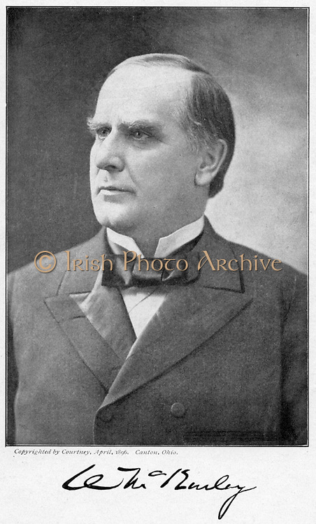 William McKinley (1843-1901) 25th president of USA from 1896. Shot by anarchist Leon Czolgosz at the Pan-American Exhibition in Buffalo, 6 Sept 1901 and died 14 Sept.