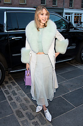 Celebrities are seen attending BVLGARI world premiere screening of 'The Conductor' and 'The Litas' at 2018 Tribeca Film Festival at iPic Theaters in New York. 26 Apr 2018 Pictured: Suki Waterhouse. Photo credit: MEGA TheMegaAgency.com +1 888 505 6342