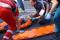 COLLI Daniele (ITA), Injury Blessure, Crash Chute during the Giro d'Italia 2015, Stage 6, La Spezia - Abetone (152 Km) on May 14, 2015. Photo Tim de Waele / DPPI