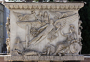 Detail from the Vatican Gardens, the large sprawling urban gardens which cover more than half the Vatican territory (around 23 hectares). The gardens are decorated with sculptures, reliefs and fountains. This image shows relief work.