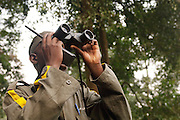 A guide and spotter park ranger in Nyungwe National Park, Rwanda