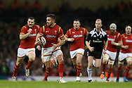 Rhys Webb of Wales makes a break. RBS Six Nations 2017 international rugby, Wales v Ireland at the Principality Stadium in Cardiff , South Wales on Friday 10th March 2017.  pic by Andrew Orchard, Andrew Orchard sports photography