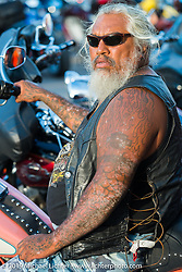 Angela Renner during the annual Black Hills Motorcycle Rally. Sturgis, SD, USA. August 8, 2014.  Photography ©2014 Michael Lichter., 2014.