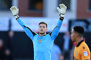 Joe Day, the Newport county goalkeeper looks on.EFL cup, 1st round match, Newport county v Milton Keynes Dons at Rodney Parade in Newport, South Wales on Tuesday 9th August 2016.<br /> pic by Andrew Orchard, Andrew Orchard sports photography.
