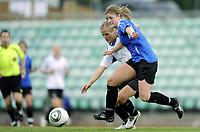 Fotball<br /> Norge<br /> 04.05.2011<br /> Foto: Morten Olsen, Digitalsport<br /> <br /> Trening Norge A kvinner<br /> Nadderud Stadion<br /> Internkamp - Norge Blå mot Norge Hvit<br /> <br /> Maren Mjelde (B)<br /> Lindy Melissa Wiik (W)