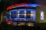 General view of the Staples Center exterior during the NBA All-Star Game on Sunday, Feb. 15, 2004 in Los Angeles.