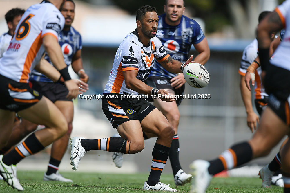 Wests Tigers Benji Marshall in action in the NRL Trial, Vodafone Warriors v Wests Tigers, Rotorua Stadium, Rotorua, Sunday, March 01, 2020. Copyright photo: Kerry Marshall / www.photosport.nz