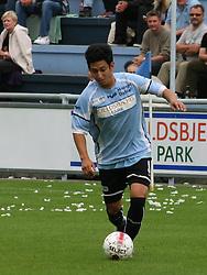 FODBOLD: Abel Ramirez (Helsingør) under kampen i Danmarksserien, pulje 1, mellem Elite 3000 Helsingør og Allerød FK den 7. september 2008 på Helsingør Stadion. Foto: Claus Birch