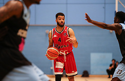 Lewis Champion of Bristol Flyers with the ball - Photo mandatory by-line: Arron Gent/JMP - 28/04/2019 - BASKETBALL - Surrey Sports Park - Guildford, England - Surrey Scorchers v Bristol Flyers - British Basketball League Championship