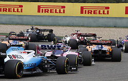 April 14, 2019 - Shanghai, China - Motorsports: FIA Formula One World Championship 2019, Grand Prix of China, .. Start, #88 Robert Kubica (POL, ROKiT Williams Racing), #18 Lance Stroll (CAN, Racing Point F1 Team) (Credit Image: © Hoch Zwei via ZUMA Wire)