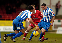 Photo: Leigh Quinnell.<br /> Swindon Town v Chester City. Coca Cola League 2. 24/02/2007. Simon Marples keeps the ball for Chester.