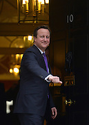 © Licensed to London News Pictures. 05/02/2013. Westminster, UK Prime Minister, David Cameron, on the steps of no 10 after meetings today 5th February 2013. Photo credit : Stephen Simpson/LNP