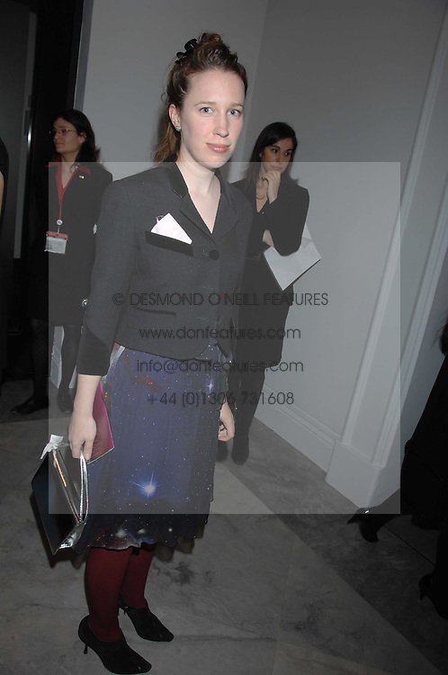 LADY FRANCES VON HOFMANNSTHAL daughter of the Earl of Snowdon at the opening party for 'Face of Fashion' an exhibition of photographs by five of the World's leading fashion photographers held at the National Portrait Gallery, St.Martin's Lane, London on 12th February 2007.<br /><br />NON EXCLUSIVE - WORLD RIGHTS