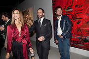 CARINE ROITFELD; TOM FORD; NICHOLAS POL, Private view of the exhibition ' Mother of Pouacrus' by Nicholas Pol. Presented by Vladimir Restoin Roitfeld. The Old Dairy, Wakefield St.  London. 14 October 2010. <br /> <br /> -DO NOT ARCHIVE-© Copyright Photograph by Dafydd Jones. 248 Clapham Rd. London SW9 0PZ. Tel 0207 820 0771. www.dafjones.com.