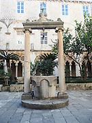 An ancient water well, Dubrovnik, Croatia