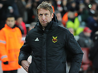 Football - 2017 / 2018 Europa League - Round of Thirty-Two, Second Leg: Arsenal (3) vs. Ostersunds FK (0)<br /> <br /> Ostersunds Manager Graham Potter at The Emirates.<br /> <br /> COLORSPORT/ANDREW COWIE