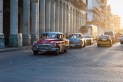 Old American car on street, Havana Cuba