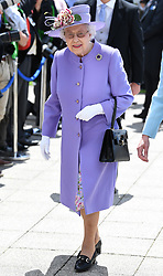 The Epsom Derby at Epsom Racecourse, Epsom, Surrey, UK, on the 2nd June 2018. 02 Jun 2018 Pictured: Queen, Queen Elizabeth. Photo credit: James Whatling / MEGA TheMegaAgency.com +1 888 505 6342