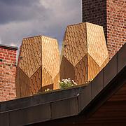 Bikuber på taket av Mathallen på Vulkan i Oslo