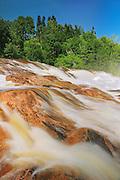Chutes de la Rivière du Sault au Mouton (Waterfall on river)<br /> Longue-Rive<br /> Quebec<br /> Canada