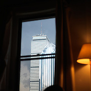 View from inside a South Enfd apartment. Viewing the Prudential building on Boston, MA.