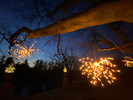 Old Westbury, New York, U.S. December 22, 2019.  Christmas at Old Westbury Gardens is open for the last day, at the historic Gold Coast estate on Long Island.