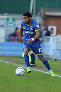 Andy Barcham midfielder for AFC Wimbledon (17) in action during the Sky Bet League 2 match between AFC Wimbledon and Portsmouth at the Cherry Red Records Stadium, Kingston, England on 26 April 2016. Photo by Stuart Butcher.