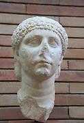 Bust of young woman, Museo Nacional de Arte Romano, national museum of Roman art, Merida, Extremadura, Spain 1st century AD