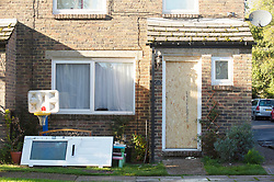 © Licensed to London News Pictures. 02/11/2018. New Ash Green, UK. Police are searching the home of missing mum Sarah Wellgreen again after smashing the front door open. Sarah Wellgreen has been missing for over three weeks. Photo credit: Grant Falvey/LNP
