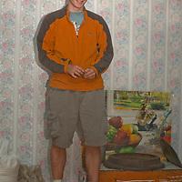 MONGOLIA. Nick Wiltsie in shaman's house.