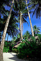 Beachfront rooms at Fridays Beachfront Resort on White Sand Beach, Boracay, Philippines.