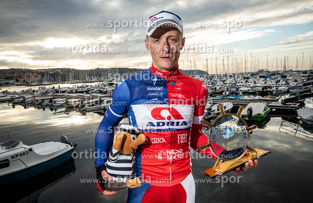 Winner Marko Kump of Adria Mobil after the cycling race 6. VN Slovenske Istre / 6th Slovenian Istra Grand Prix, on February 24, 2019 in Izola/ Isola, Slovenia. Photo by Vid Ponikvar / Sportida