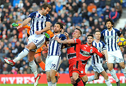 Craig Dawson of West Bromwich Albion scores a goal making it 1-2- Mandatory by-line: Nizaam Jones/JMP - 24/02/2018 - FOOTBALL - The Hawthorns - West Bromwich, England - West Bromwich Albion v Huddersfield Town- Premier League