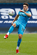 Derby County's Tom Lawrence in action during EFL Sky Bet Championship between Millwall and Derby County at The Den Stadium, Saturday, June 20, 2020, in London, United Kingdom. (ESPA-Images/Image of Sport)