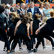 Koningsdag 2014 in Amstelveen, het vieren van de verjaardag van de koning. / Kingsday 2014 in Amstelveen, celebrating the birthday of the King. <br /> <br /> <br /> Op de foto / On the photo:  Koning Willem-Alexander and Koningin Maxima  / King Willem-Alexander and Queen Maxima