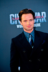 """Sebastian Stan 04/12/2016 World Premiere of Marvel's """"Captain America: Civil War"""" held at Dolby Theater in Hollywood, CA. EXPA Pictures © 2016, PhotoCredit: EXPA/ Photoshot/ Albert L. Ortega<br /> <br /> *****ATTENTION - for AUT, SLO, CRO, SRB, BIH, MAZ, SUI only*****"""