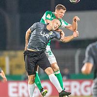12.09.2020, Ernst-Abbe-Sportfeld, Jena, GER, DFB-Pokal, 1. Runde, FC Carl Zeiss Jena vs SV Werder Bremen<br /> <br /> <br /> Dominik Bock (Carl Zeiss Jena #14)<br /> Pattrick Erras (Werder Bremen Neuzugang 29<br /> <br />  <br /> <br /> <br /> Foto © nordphoto / Kokenge